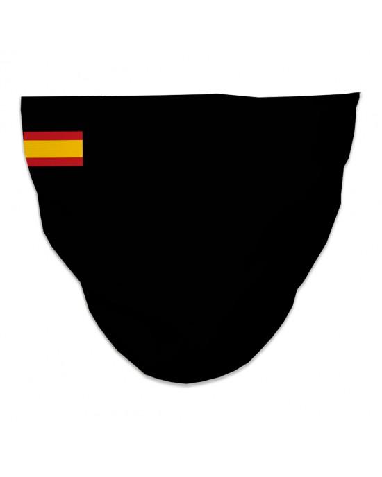 Mascarilla Higiénica Reutilizable bandera españa negra