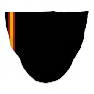 Mascarilla Higiénica Reutilizable bandera fina-negra